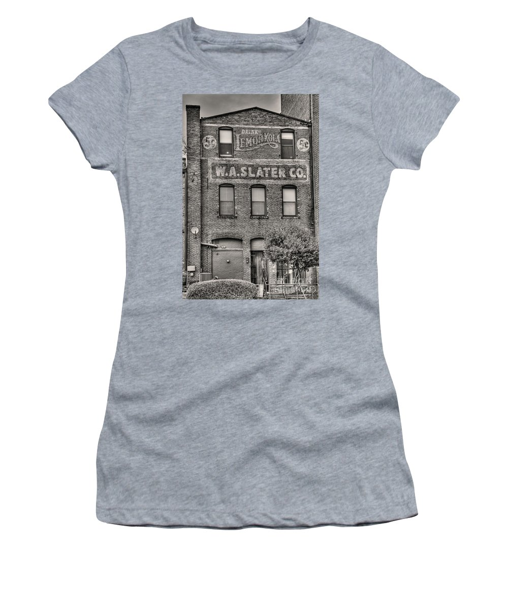 Durham Women's T-Shirt featuring the photograph Lemon Kola In Black And White by Emily Kay