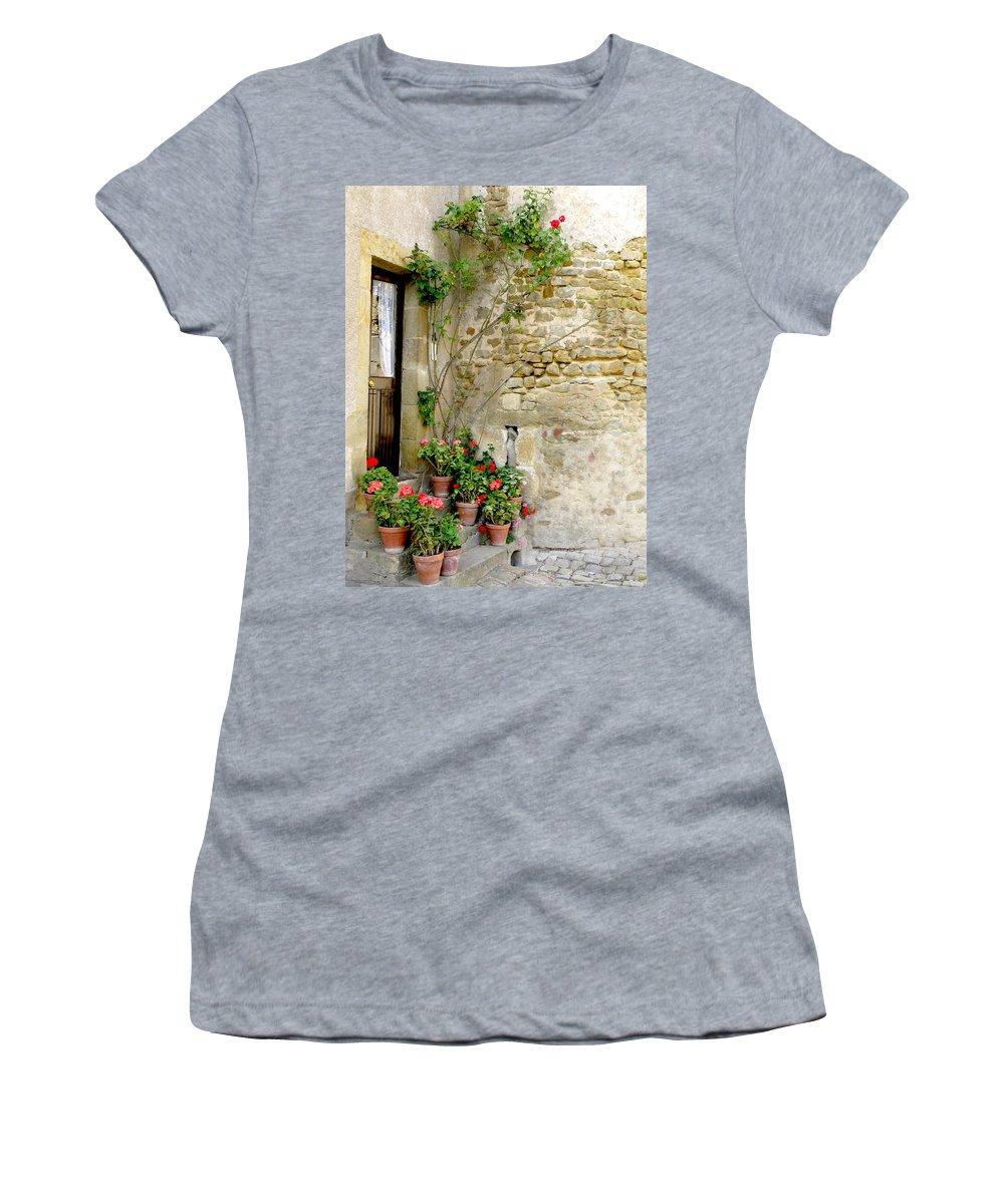 Porte De Champagne Women's T-Shirt featuring the photograph Levroux France Entrance by Randi Kuhne