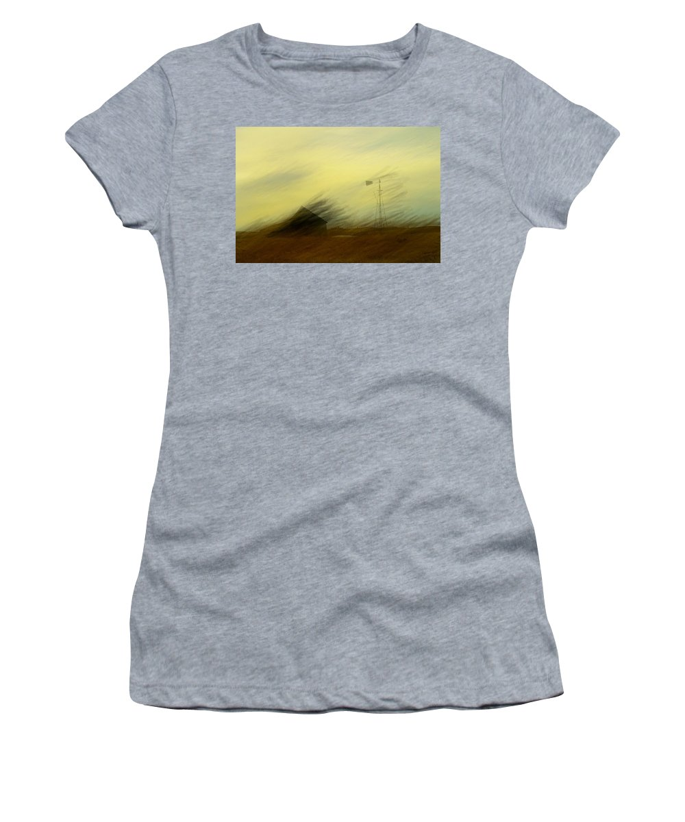 Farmland Women's T-Shirt (Athletic Fit) featuring the photograph Like A Memory In The Wind by Jeff Swan