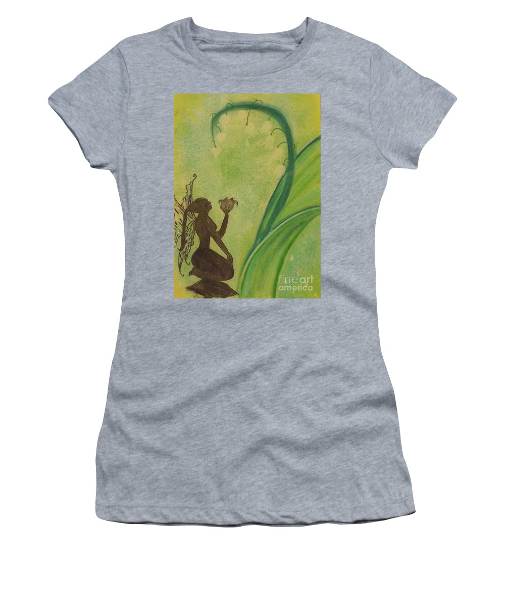 Fairy Women's T-Shirt (Athletic Fit) featuring the pastel Lily Fairy by Tammi Wetak
