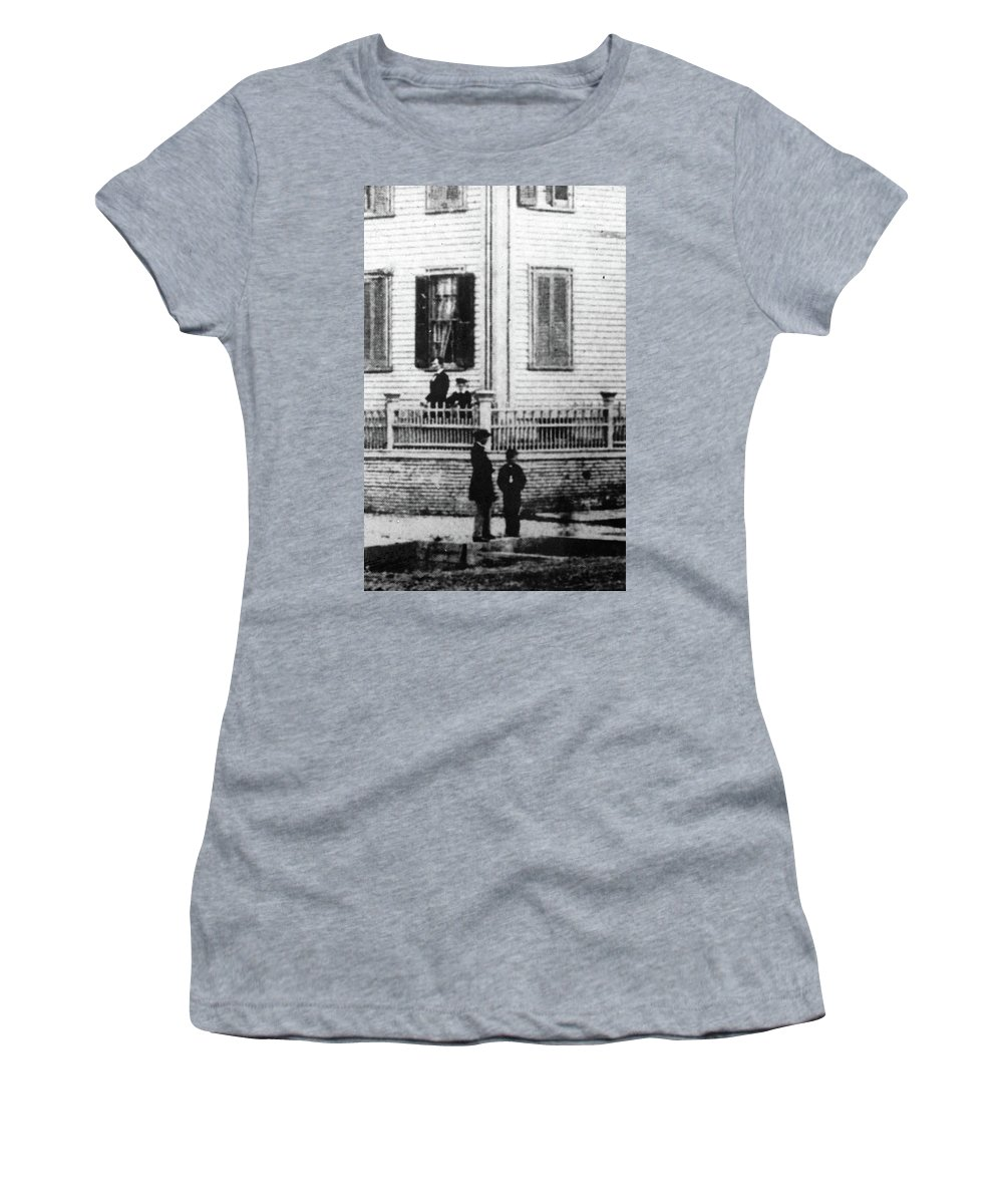 1860 Women's T-Shirt (Athletic Fit) featuring the photograph Lincoln And Sons, 1860 by Granger