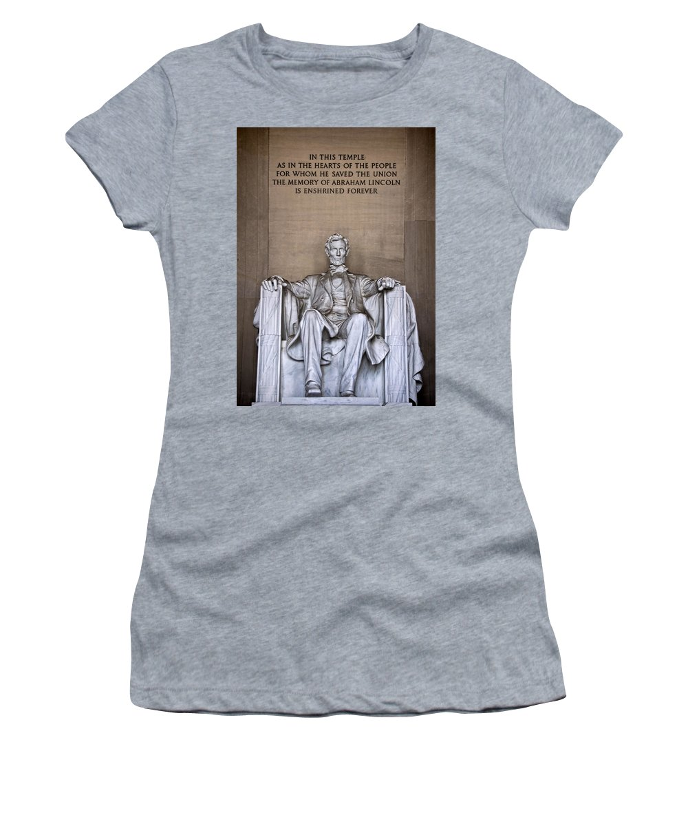 Lincoln Women's T-Shirt featuring the photograph Lincoln by Jemmy Archer