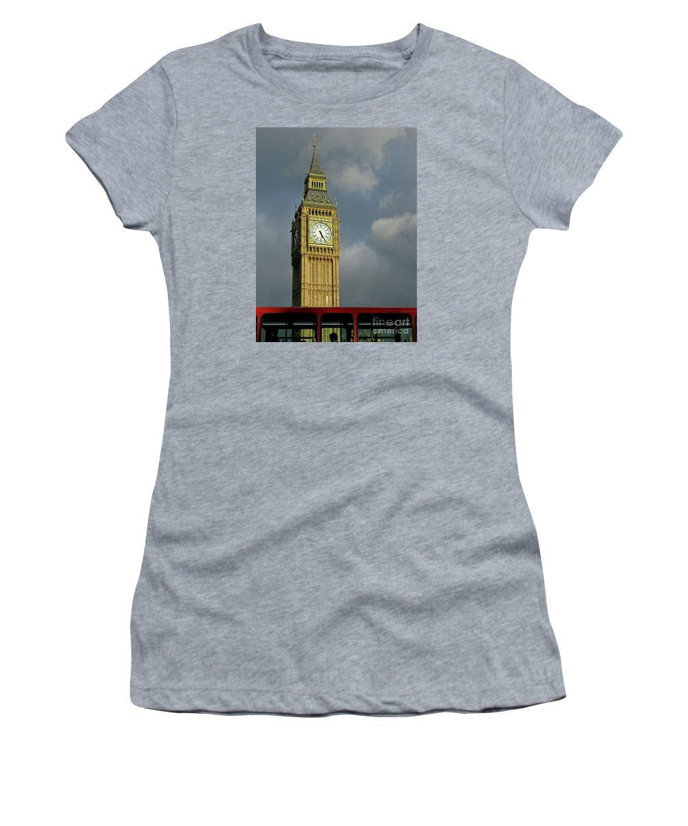 London Icons By Ann Horn Women's T-Shirt (Athletic Fit) featuring the photograph London Icons by Ann Horn