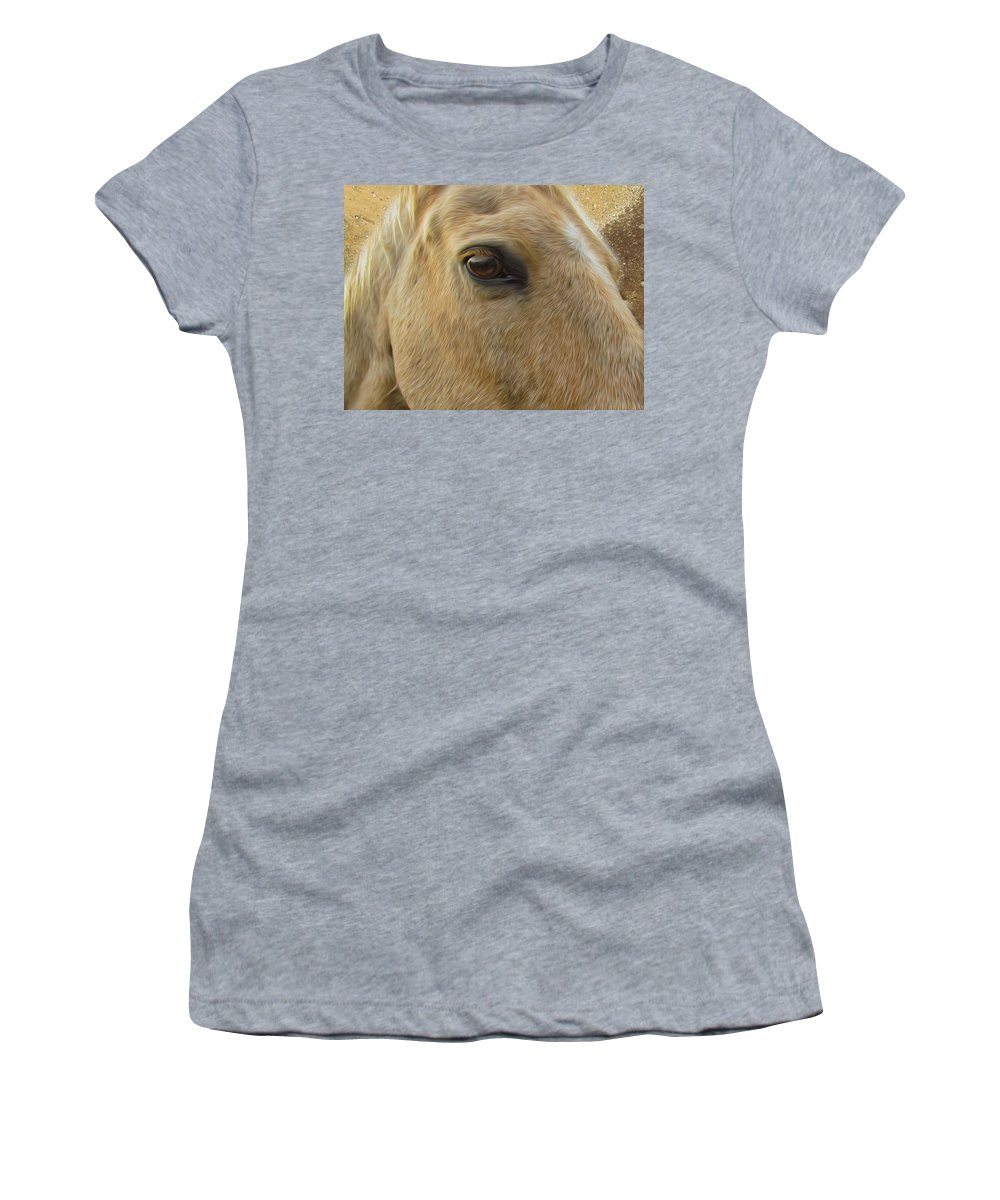 Horse Women's T-Shirt featuring the photograph Look Into My Eyes by Shannon Story