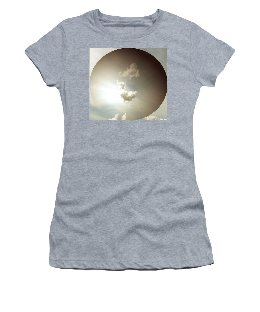 Sky Women's T-Shirt (Athletic Fit) featuring the photograph Lost In Space by Pamela Hyde Wilson