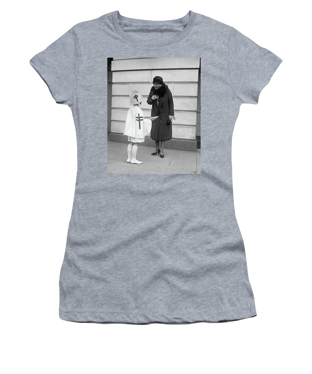 1917 Women's T-Shirt (Athletic Fit) featuring the photograph Lou H by Granger