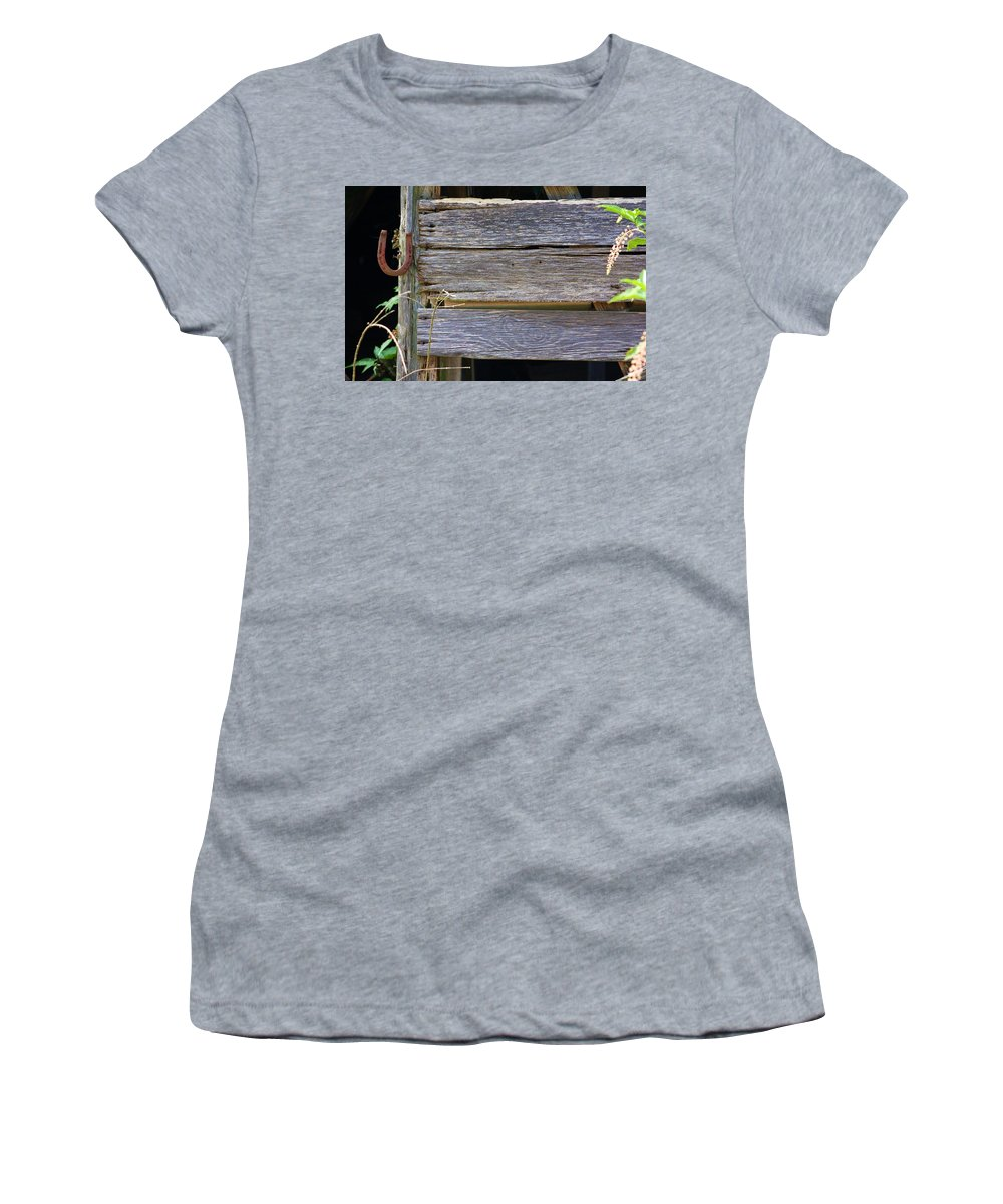 Horse Women's T-Shirt featuring the photograph Lucky by Chuck Hicks