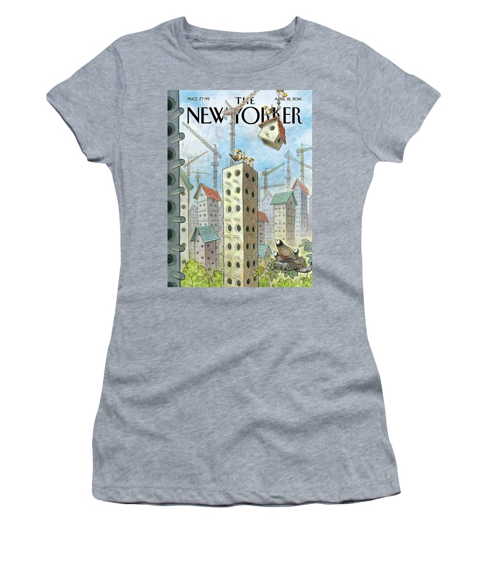 Co-op Women's T-Shirt featuring the painting Luxury Coops by Peter de Seve