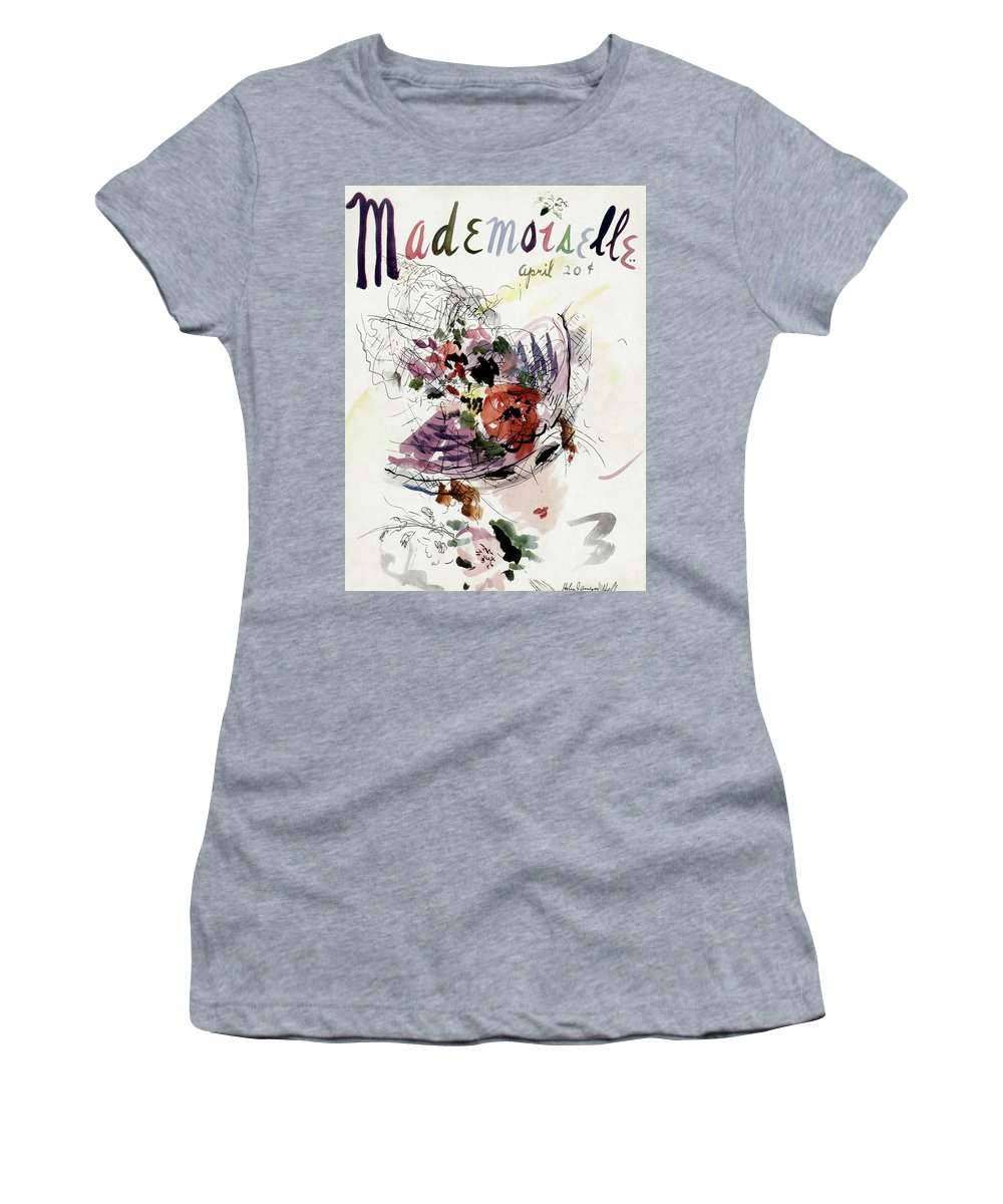 Fashion Women's T-Shirt featuring the photograph Mademoiselle Cover Featuring An Illustration by Helen Jameson Hall