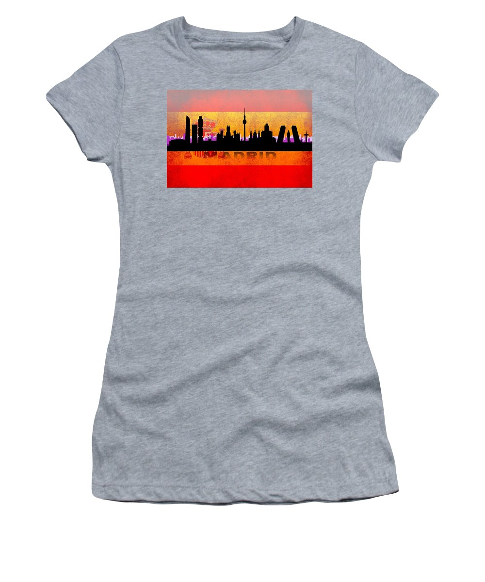 Architecture Women's T-Shirt featuring the digital art Madrid City by Don Kuing