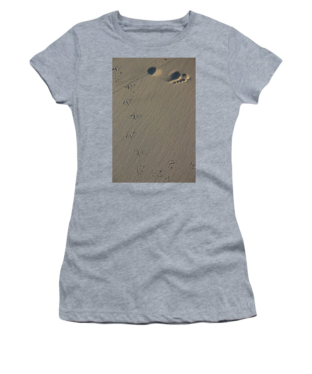 Beach Women's T-Shirt featuring the photograph Fleeting Moments by Fraser McCulloch