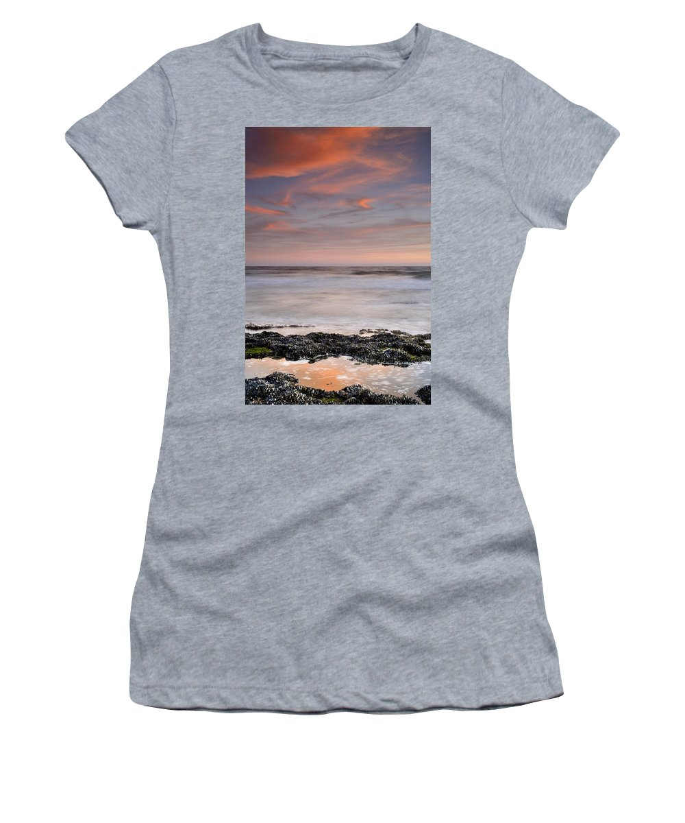 Seascape Women's T-Shirt (Athletic Fit) featuring the photograph Marine Life by Guido Montanes Castillo