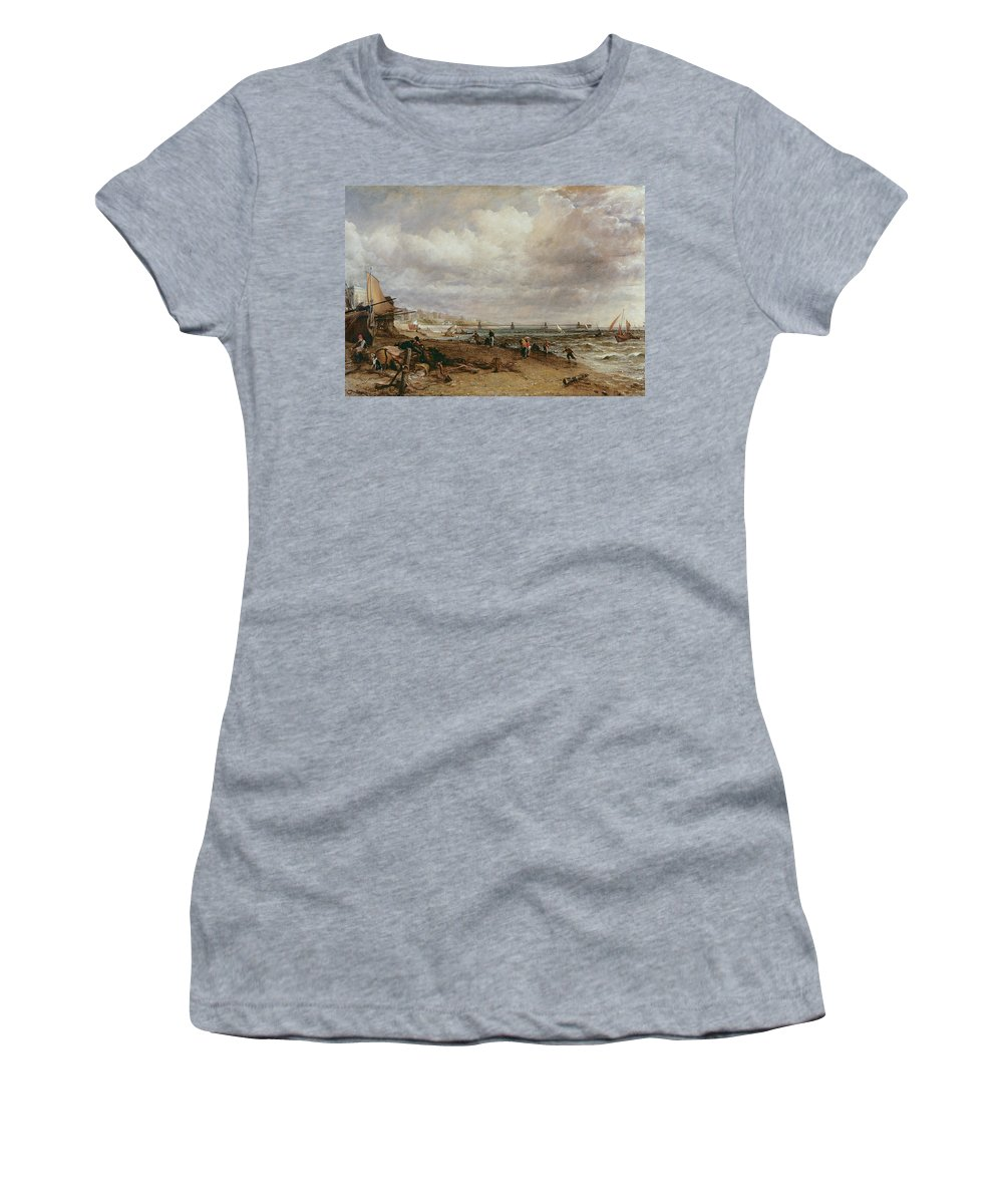 Brighton Women's T-Shirt featuring the photograph Marine Parade And Old Chain Pier, 1827 Oil On Canvas by John Constable