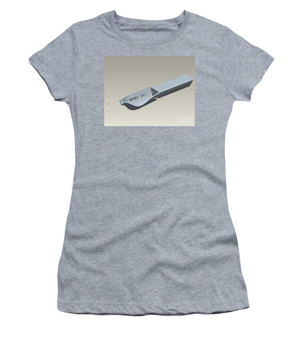 3d Design Women's T-Shirt featuring the digital art Medical Spoon Design by Eric Schiabor