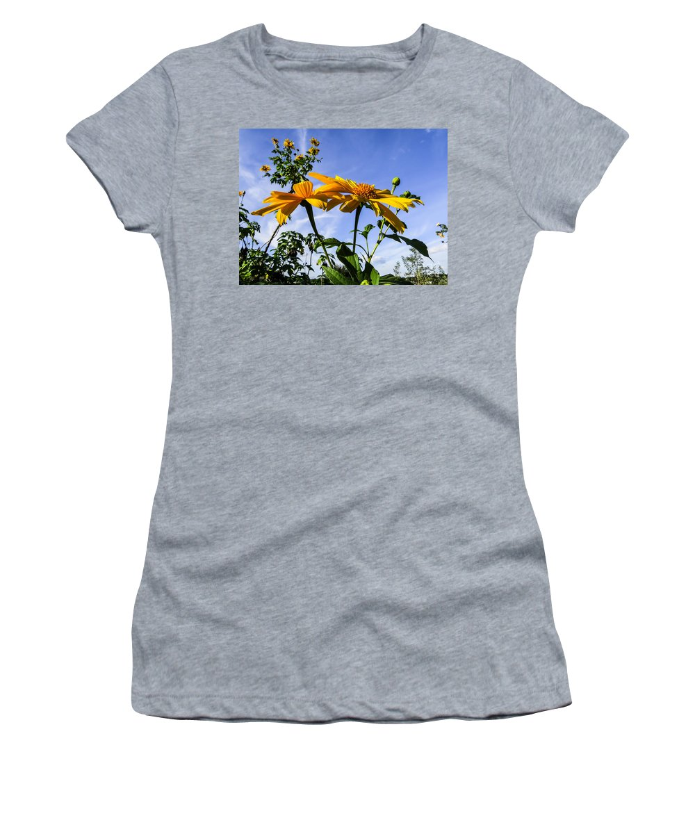Sunflower Women's T-Shirt featuring the photograph Mexican Sunflower by Zina Stromberg