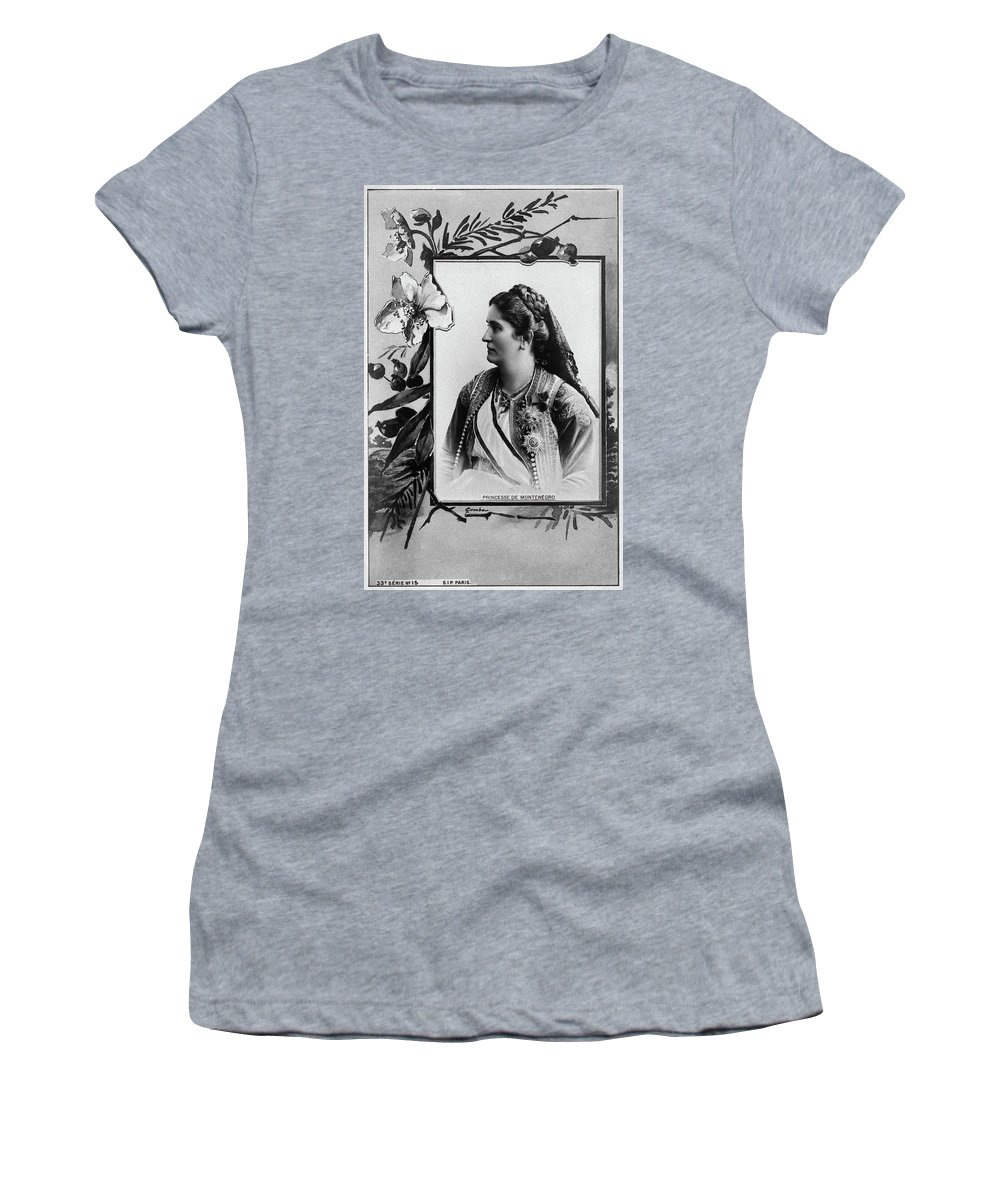 1890 Women's T-Shirt (Athletic Fit) featuring the photograph Milena Vukotic (1847-1923) by Granger