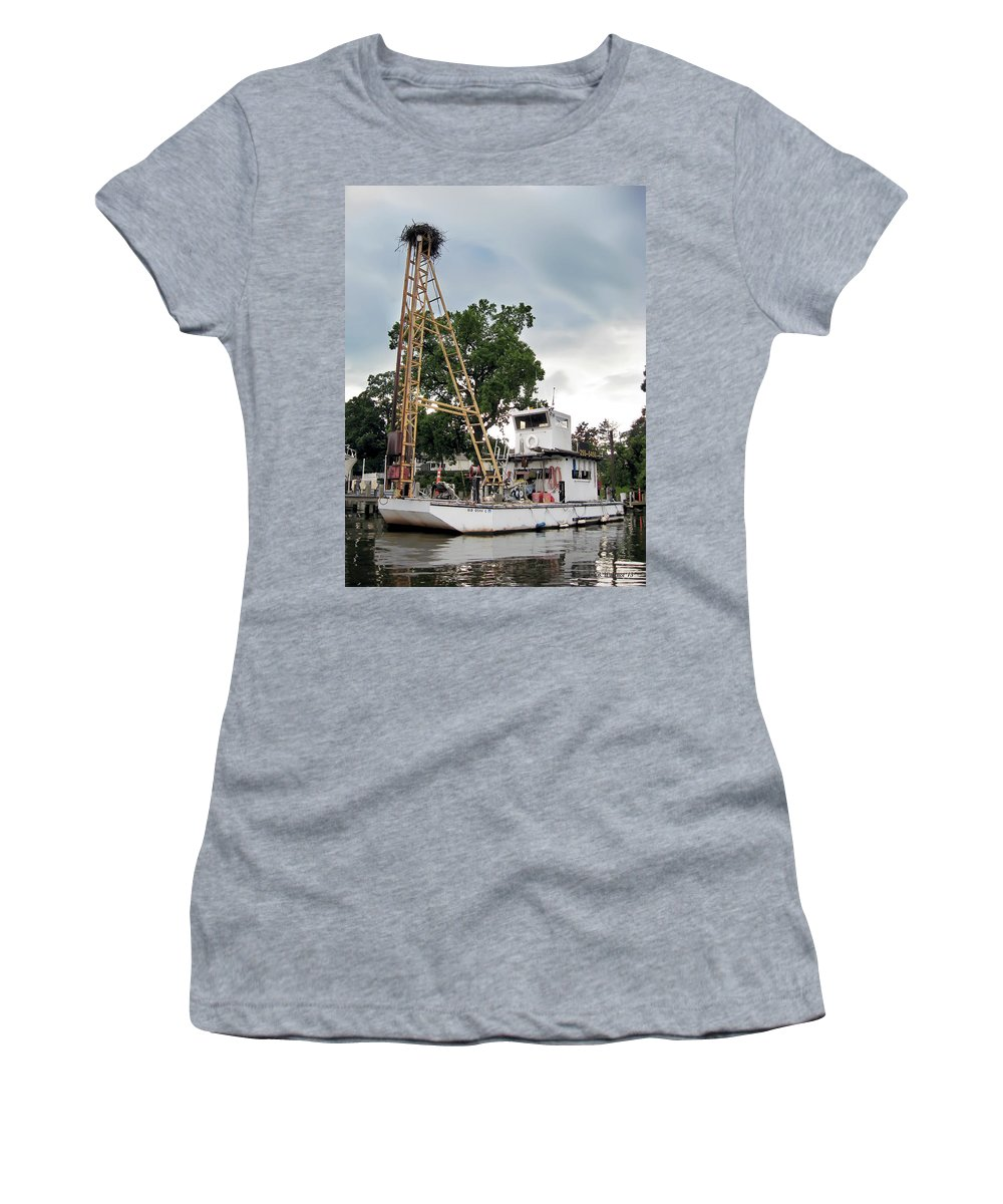 2d Women's T-Shirt (Athletic Fit) featuring the photograph Mobile Osprey Nest by Brian Wallace