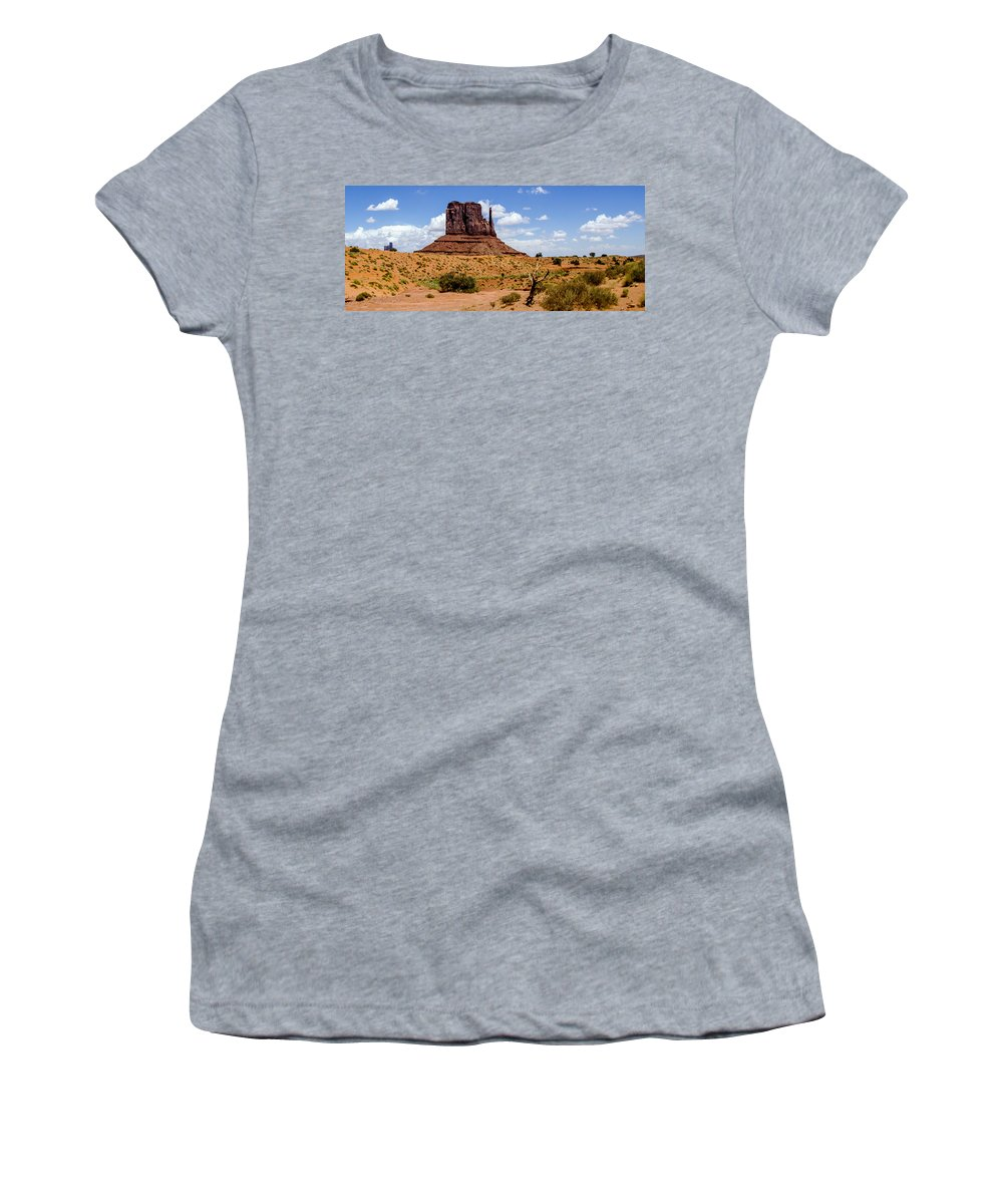 Landscape Women's T-Shirt featuring the photograph Monument Valley - Elephant Butte by Jon Berghoff