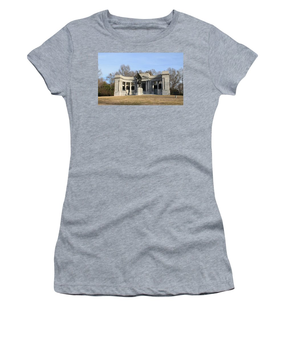 Monument Women's T-Shirt featuring the photograph Monutent At Vicksburg National Military Park by Mary Koval