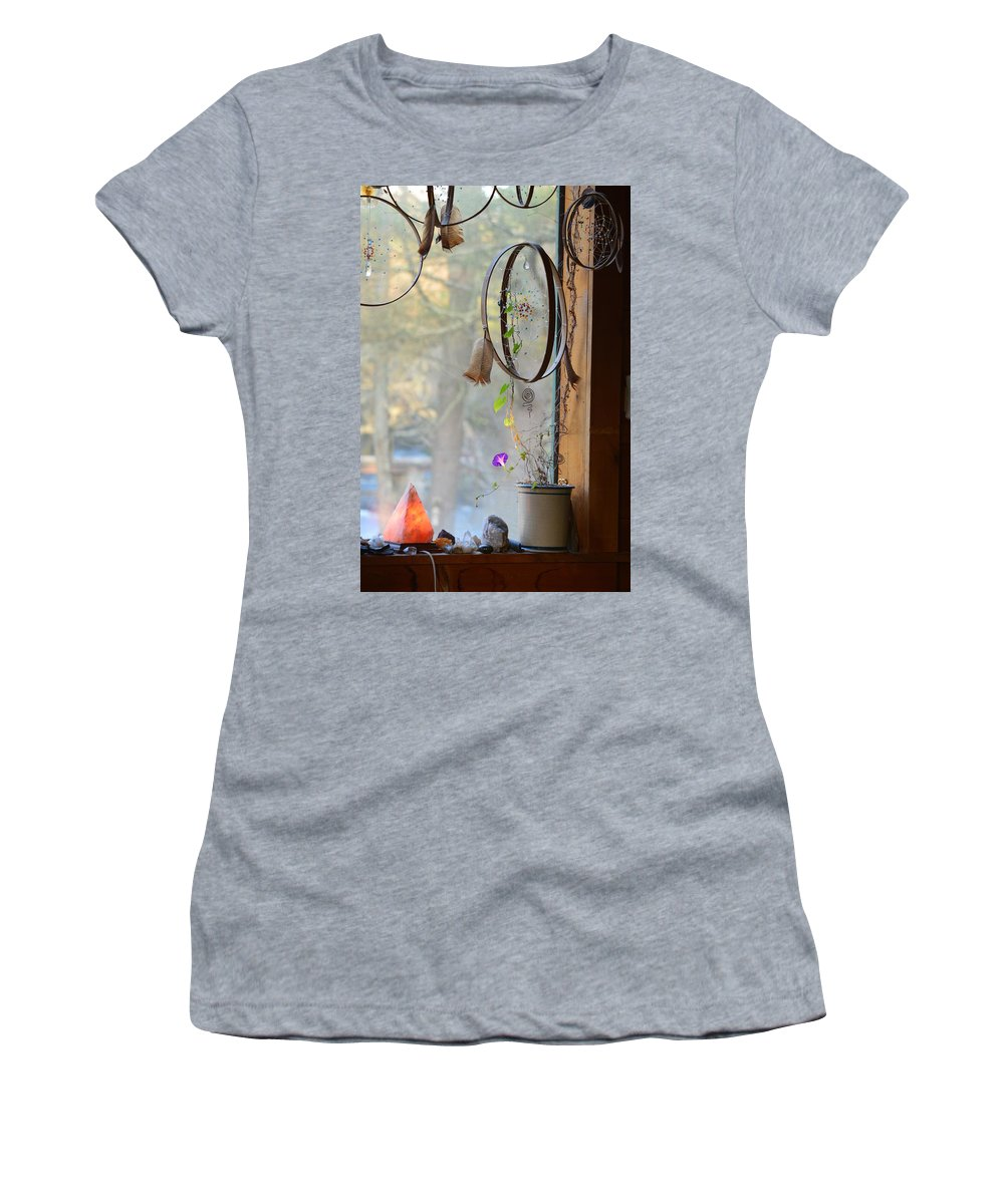 Dream Catcher Women's T-Shirt (Athletic Fit) featuring the photograph Morning Glory Dreams by Thomas Phillips