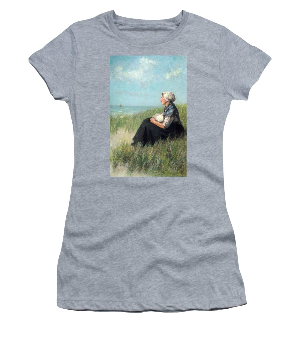 David Adolf Constant Artz Women's T-Shirt featuring the digital art Mother In The Dunes by David Adolf Constant Artz