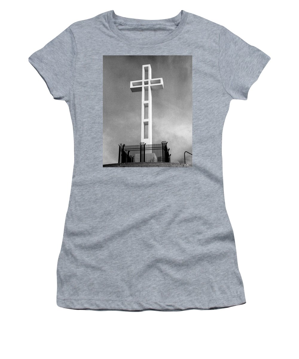 Mount Soledad Cross Women's T-Shirt featuring the photograph Mount Soledad Cross by Alex Snay