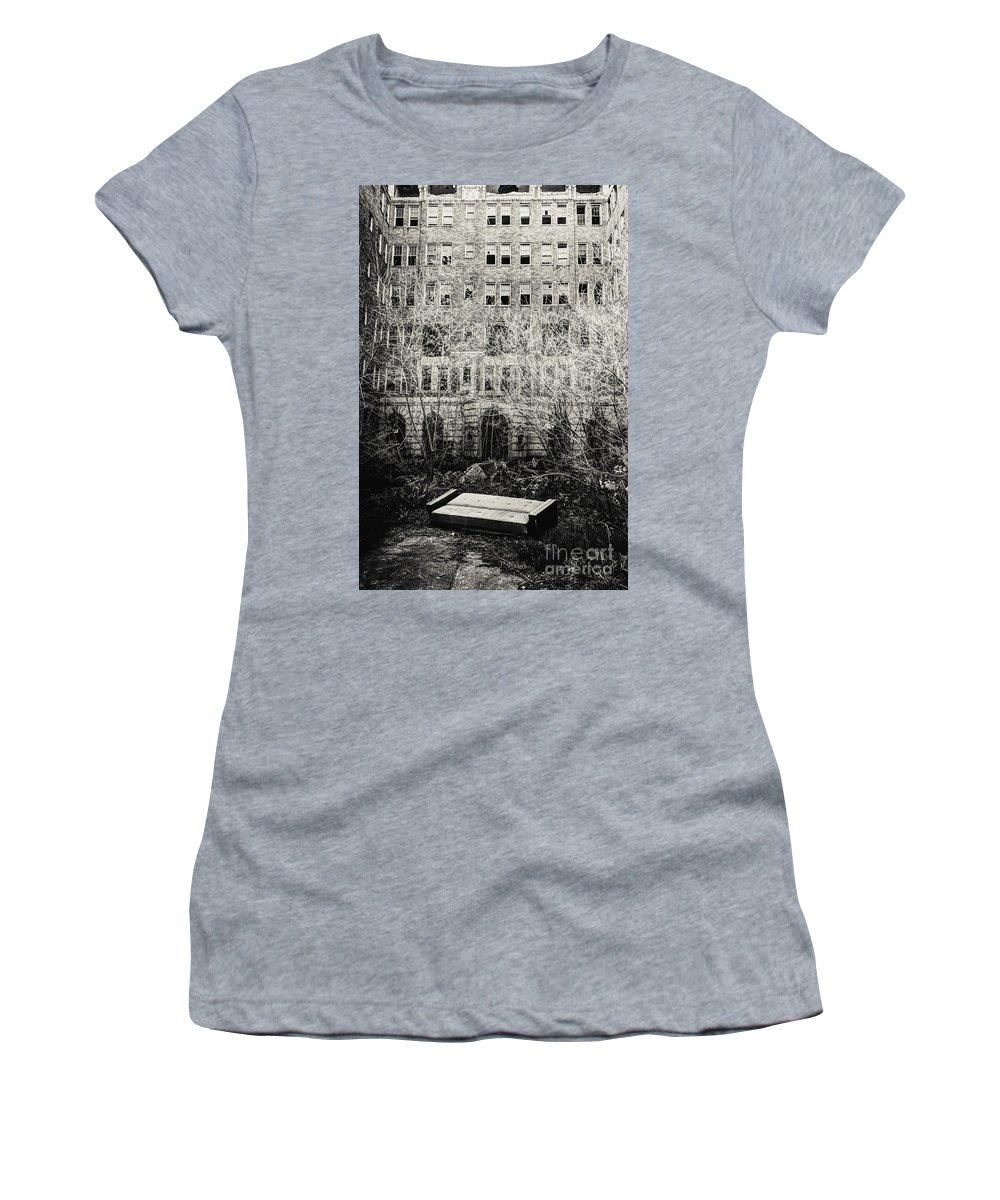 Apartments Women's T-Shirt featuring the photograph Moving Day by Margie Hurwich