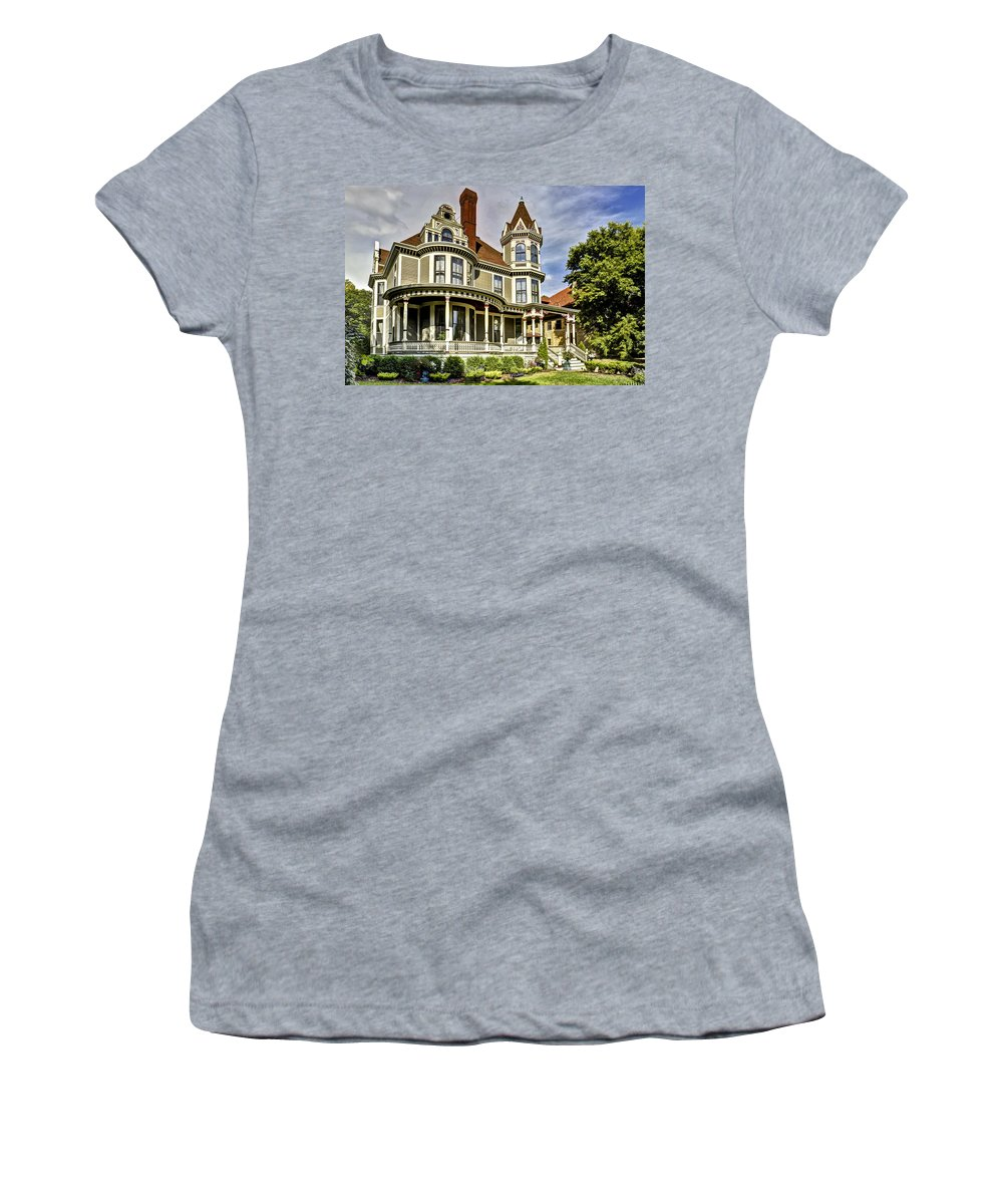 Queene Anne House Women's T-Shirt featuring the photograph Mrs. Porterfield's Boarding House 1 by David Berg