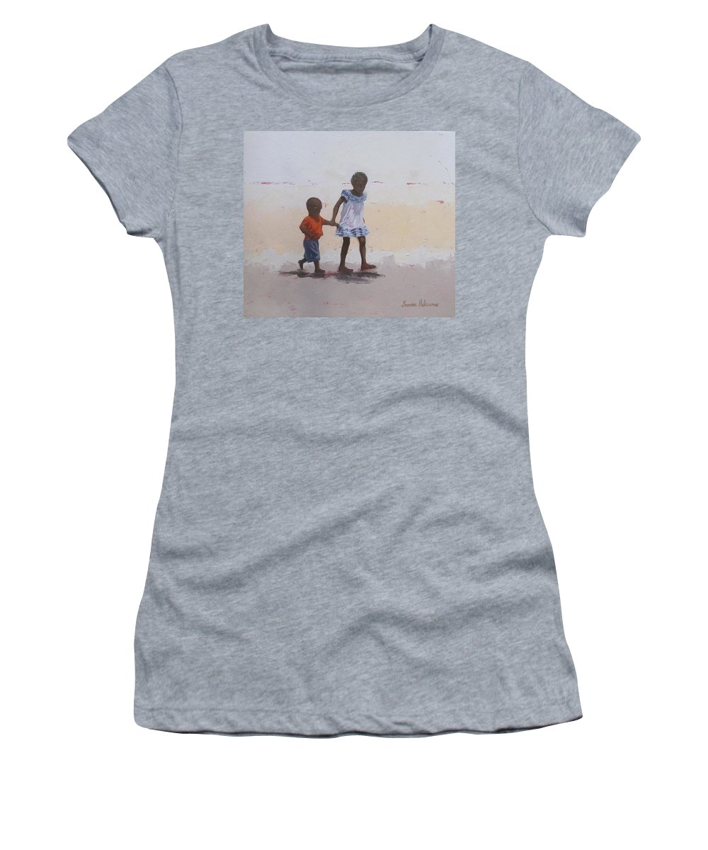Children Women's T-Shirt featuring the painting My Brother by Yvonne Ankerman