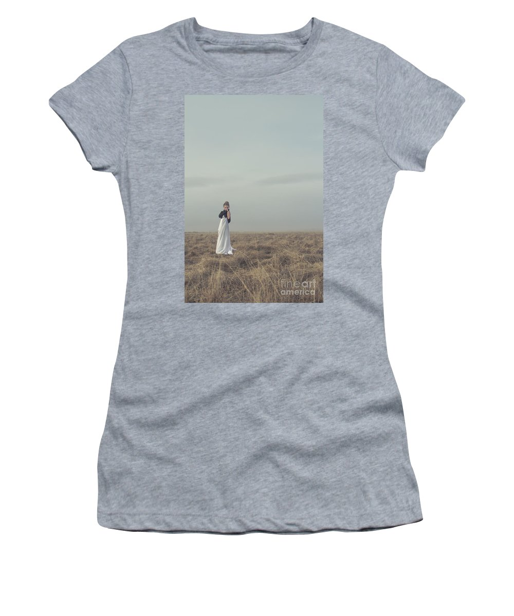 Alone Women's T-Shirt (Athletic Fit) featuring the photograph Mystic And Divine by Evelina Kremsdorf