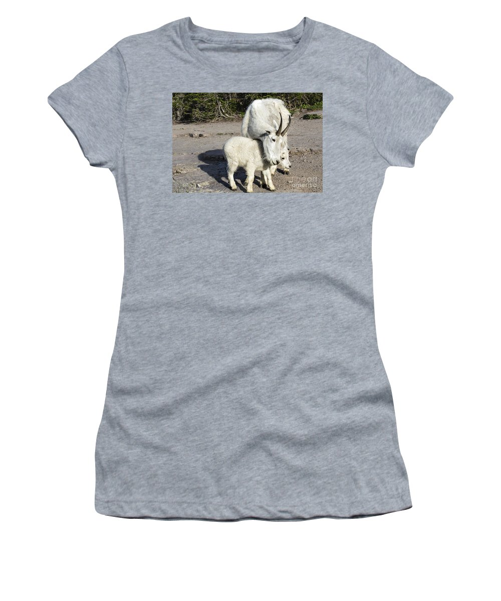 Glacier Women's T-Shirt featuring the photograph Nanny And Baby by Timothy Hacker