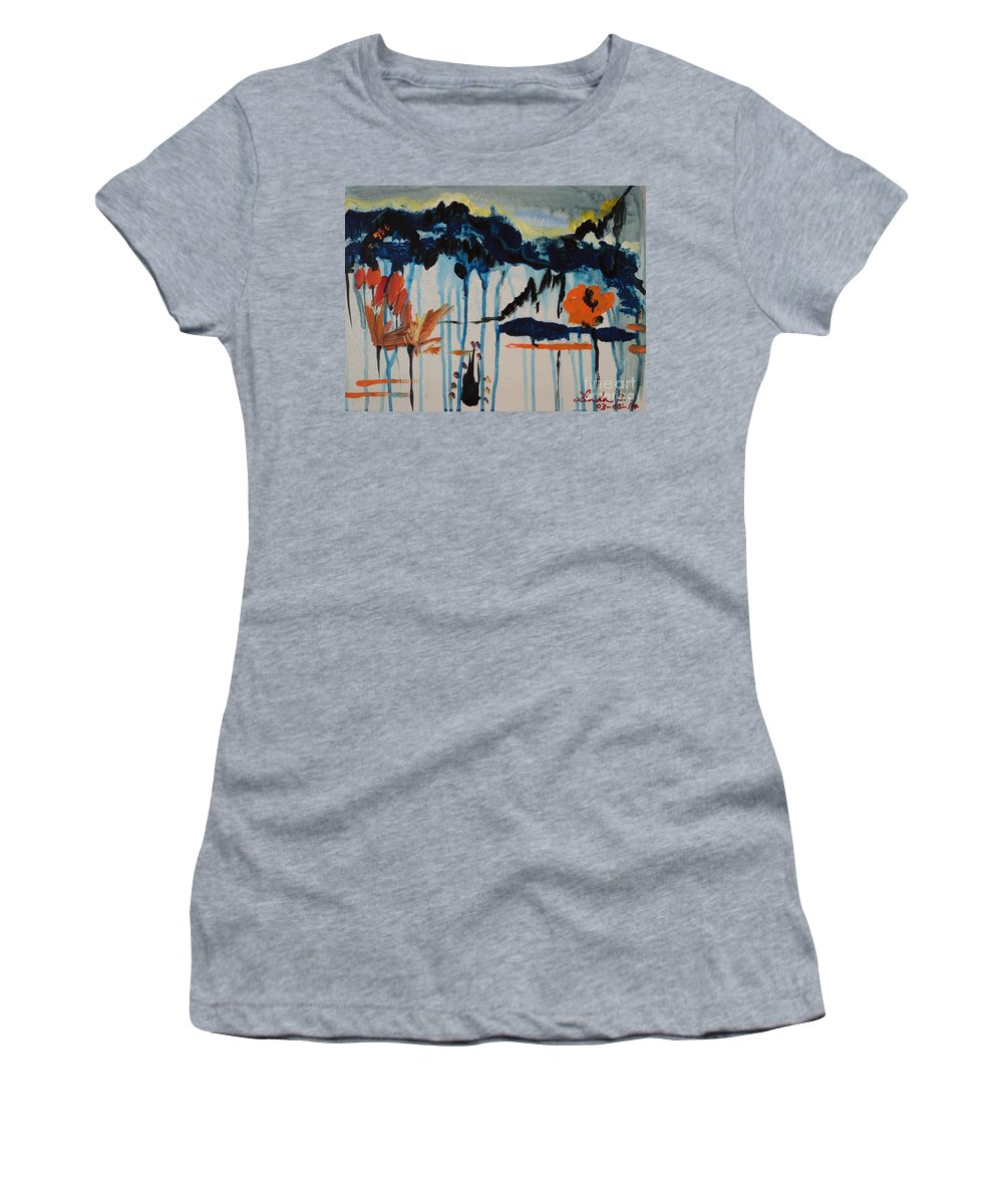 Flower Women's T-Shirt featuring the painting Nature View by Linda Lin
