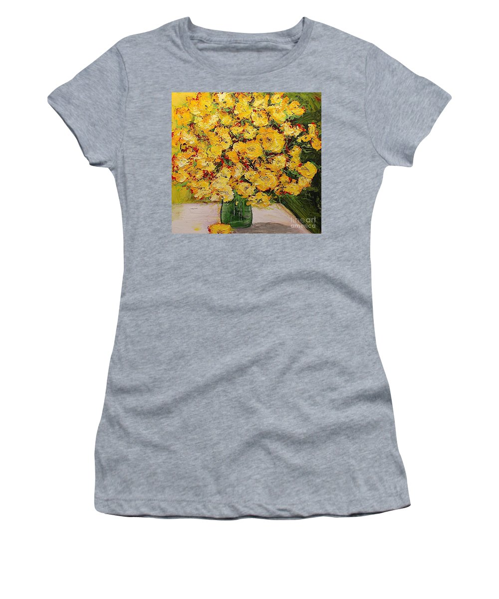 Landscape Women's T-Shirt (Athletic Fit) featuring the painting New Beginnings by Allan P Friedlander