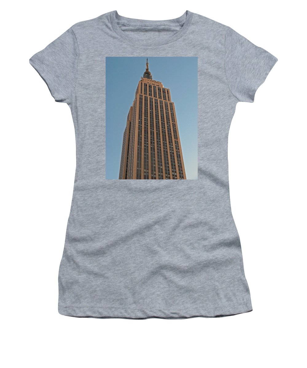 New York Women's T-Shirt (Athletic Fit) featuring the photograph New York Empire State Building by Richard Bryce and Family