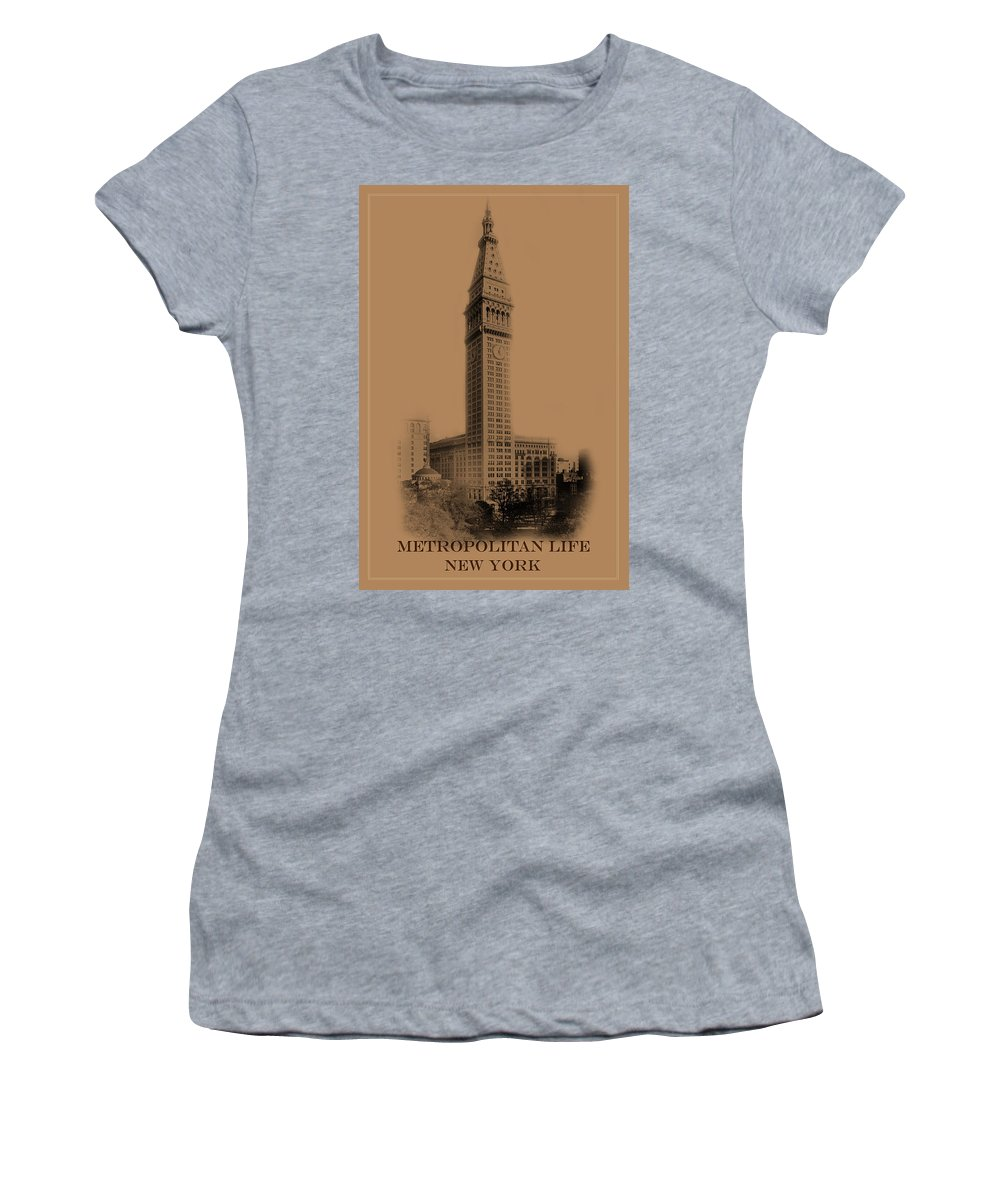 New York Women's T-Shirt featuring the photograph New York Landmarks 2 by Andrew Fare