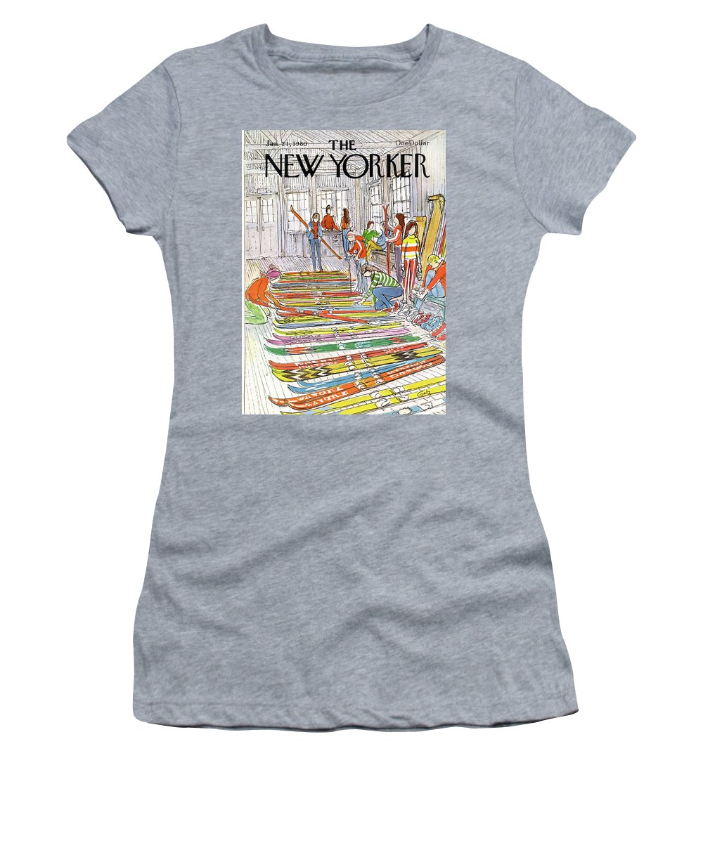 Sports Women's T-Shirt featuring the painting New Yorker January 21st, 1980 by Arthur Getz