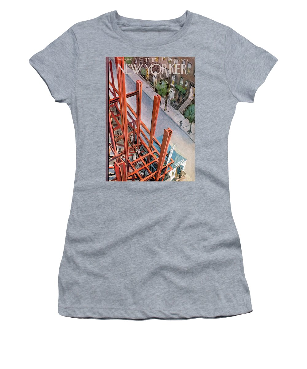 Urban Women's T-Shirt featuring the painting New Yorker July 9th, 1955 by Arthur Getz