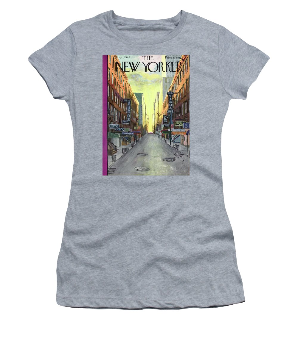 Urban Women's T-Shirt featuring the painting New Yorker May 1, 1948 by Arthur Getz