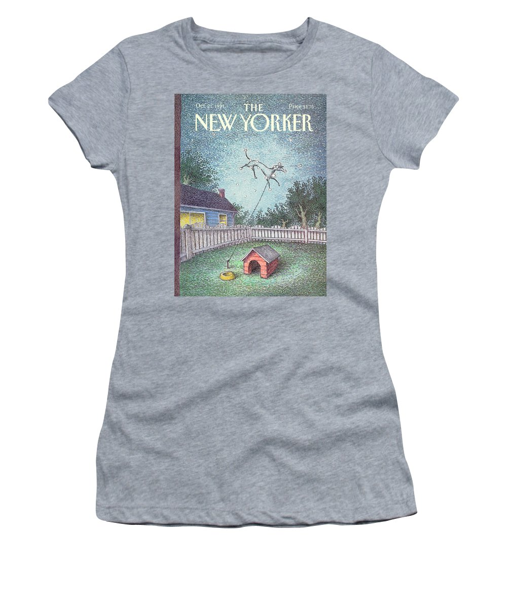 Animals Women's T-Shirt featuring the painting New Yorker October 21st, 1991 by John O'Brien