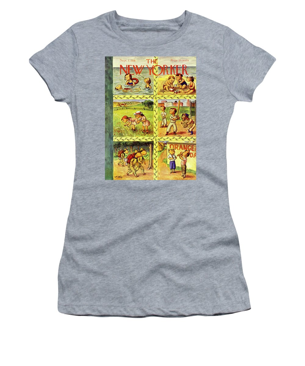 Children Women's T-Shirt featuring the painting New Yorker September 3 1938 by William Steig