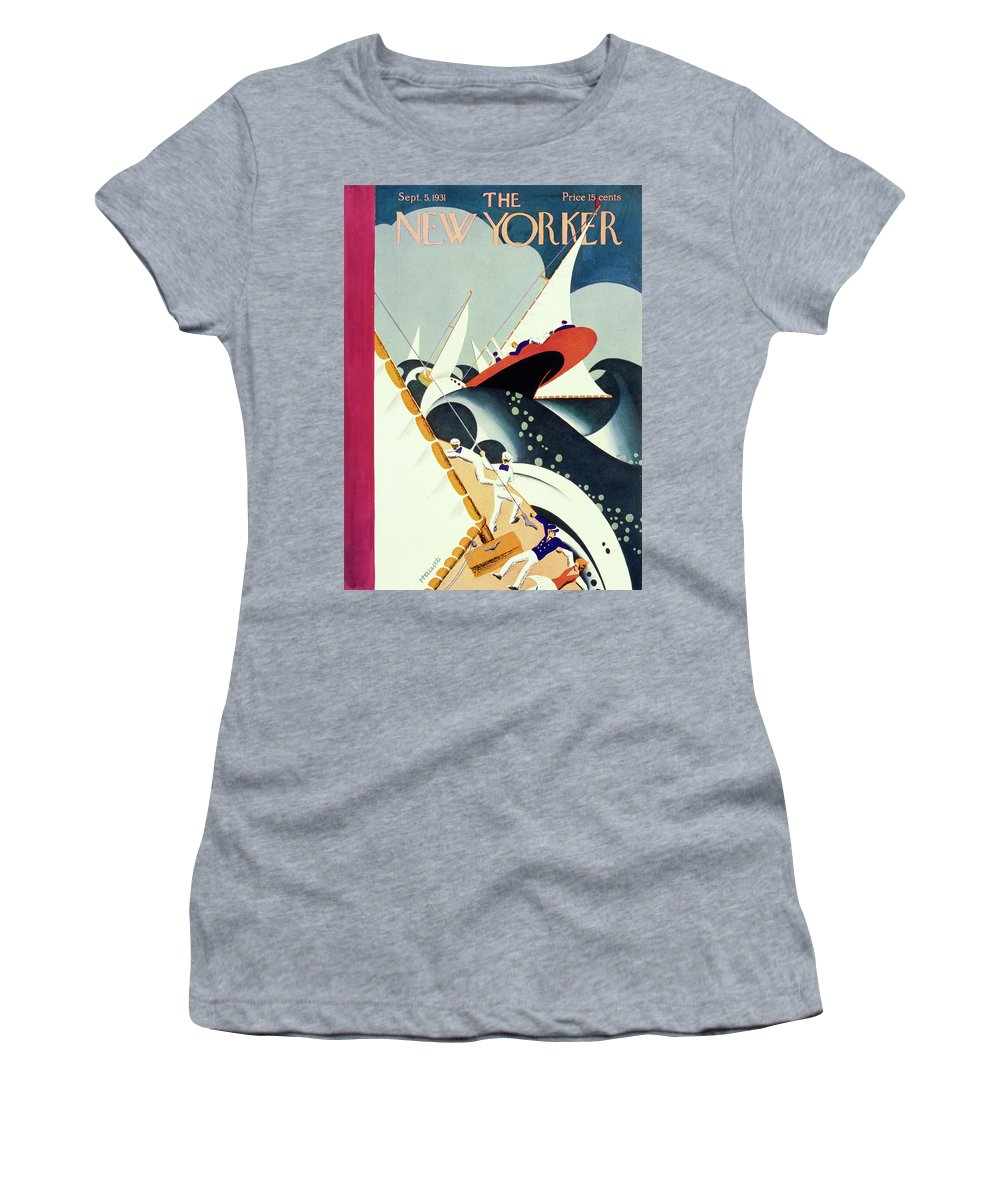 Illustration Women's T-Shirt featuring the painting New Yorker September 5 1931 by Theodore G Haupt
