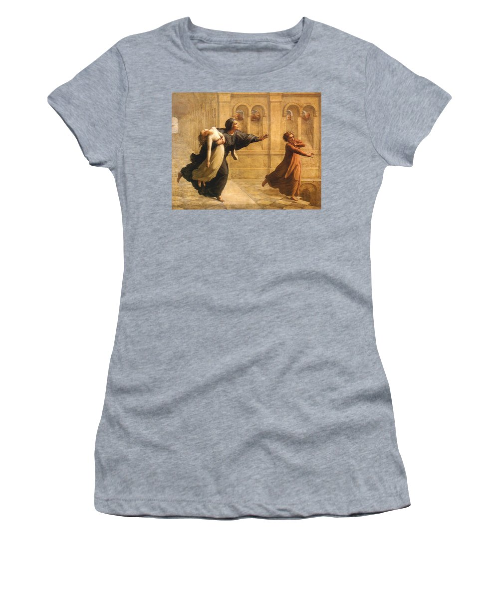 Anne Francois Louis Janmot Women's T-Shirt featuring the digital art Nightmare by Anne Francois Janmot