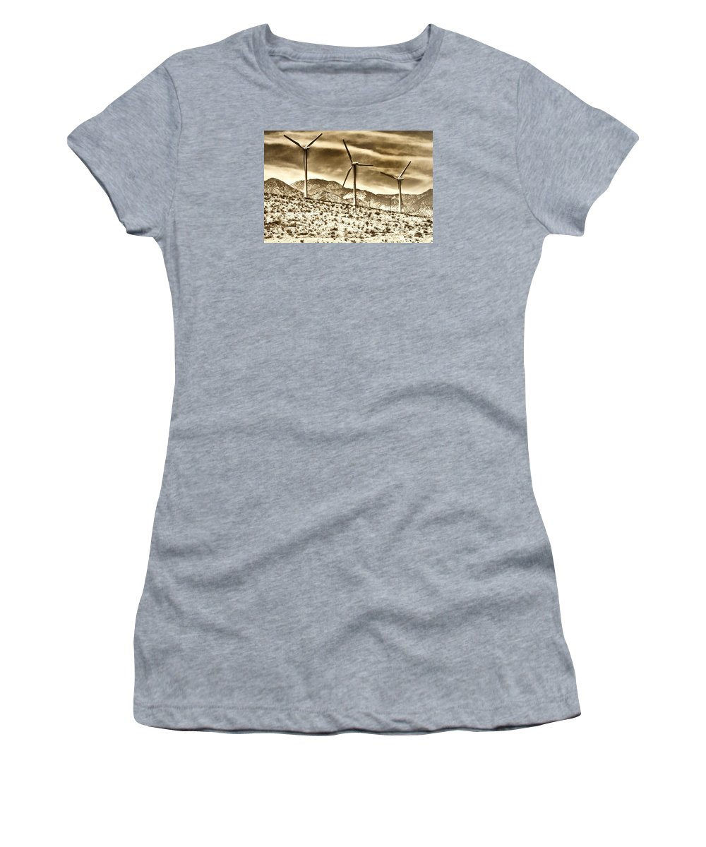 Featured Women's T-Shirt featuring the photograph No Place Like Home 3 Palm Springs by William Dey