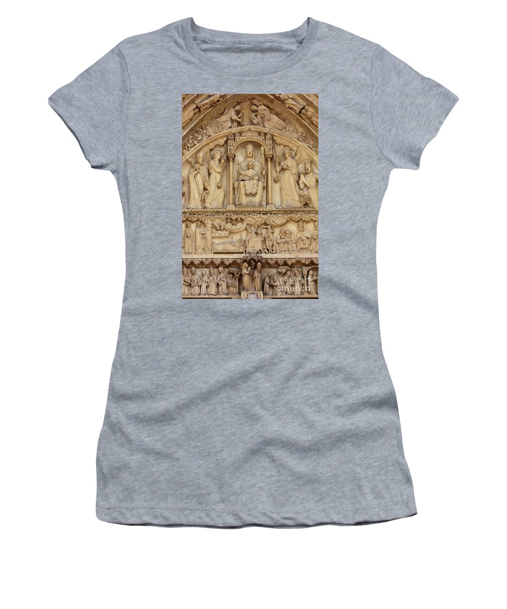 Notre Dame Women's T-Shirt (Athletic Fit) featuring the photograph Notre Dame Detail by Carol Groenen