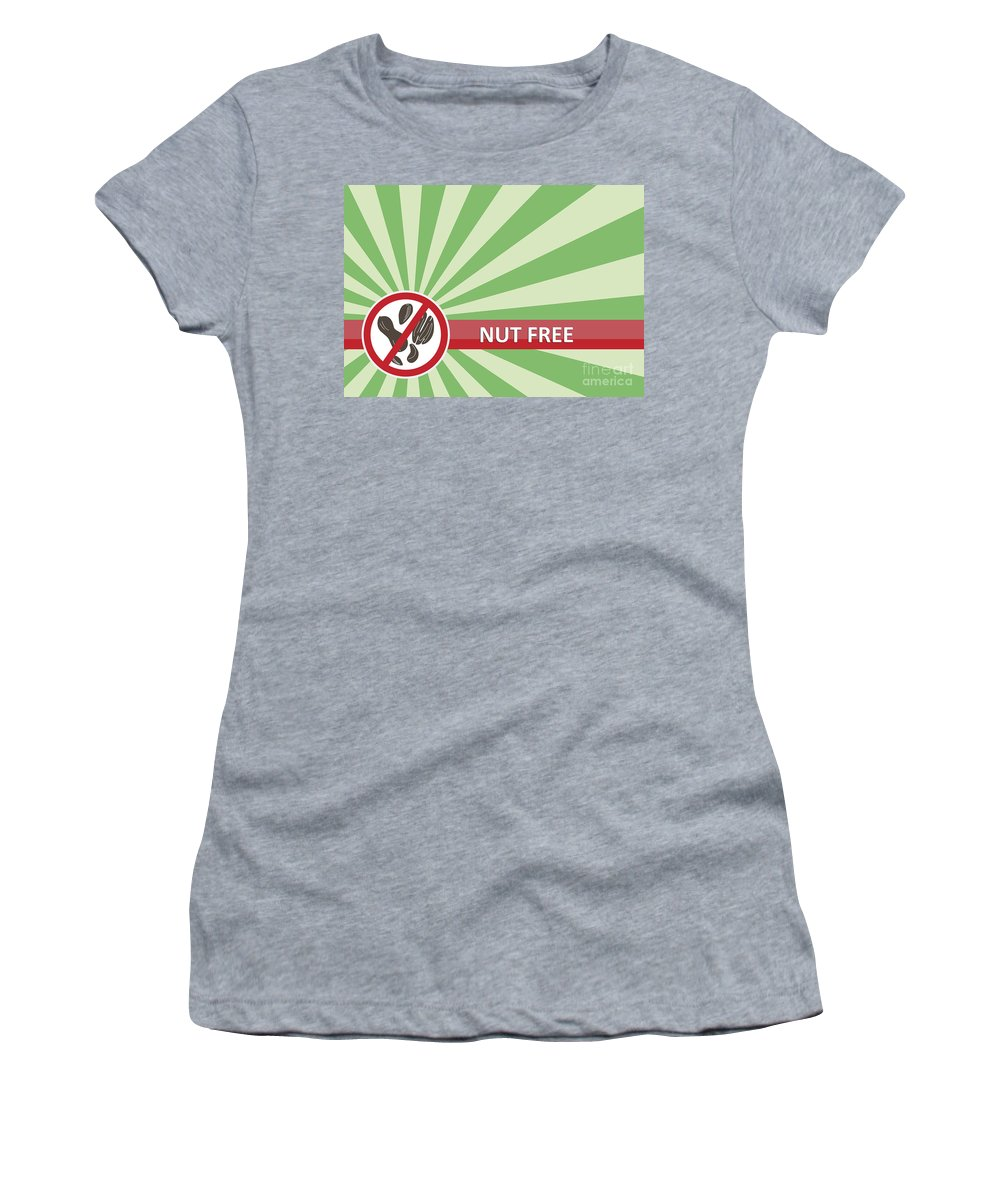 Product Women's T-Shirt (Athletic Fit) featuring the photograph Nut Free Banner by Tim Hester