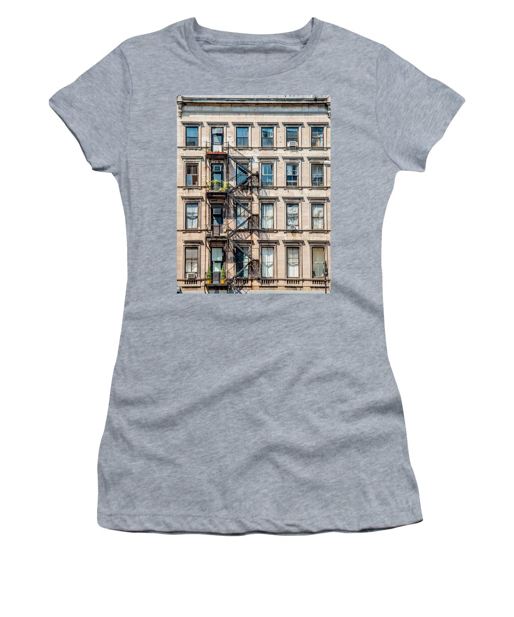 York Women's T-Shirt featuring the photograph Nyc Building by Amel Dizdarevic