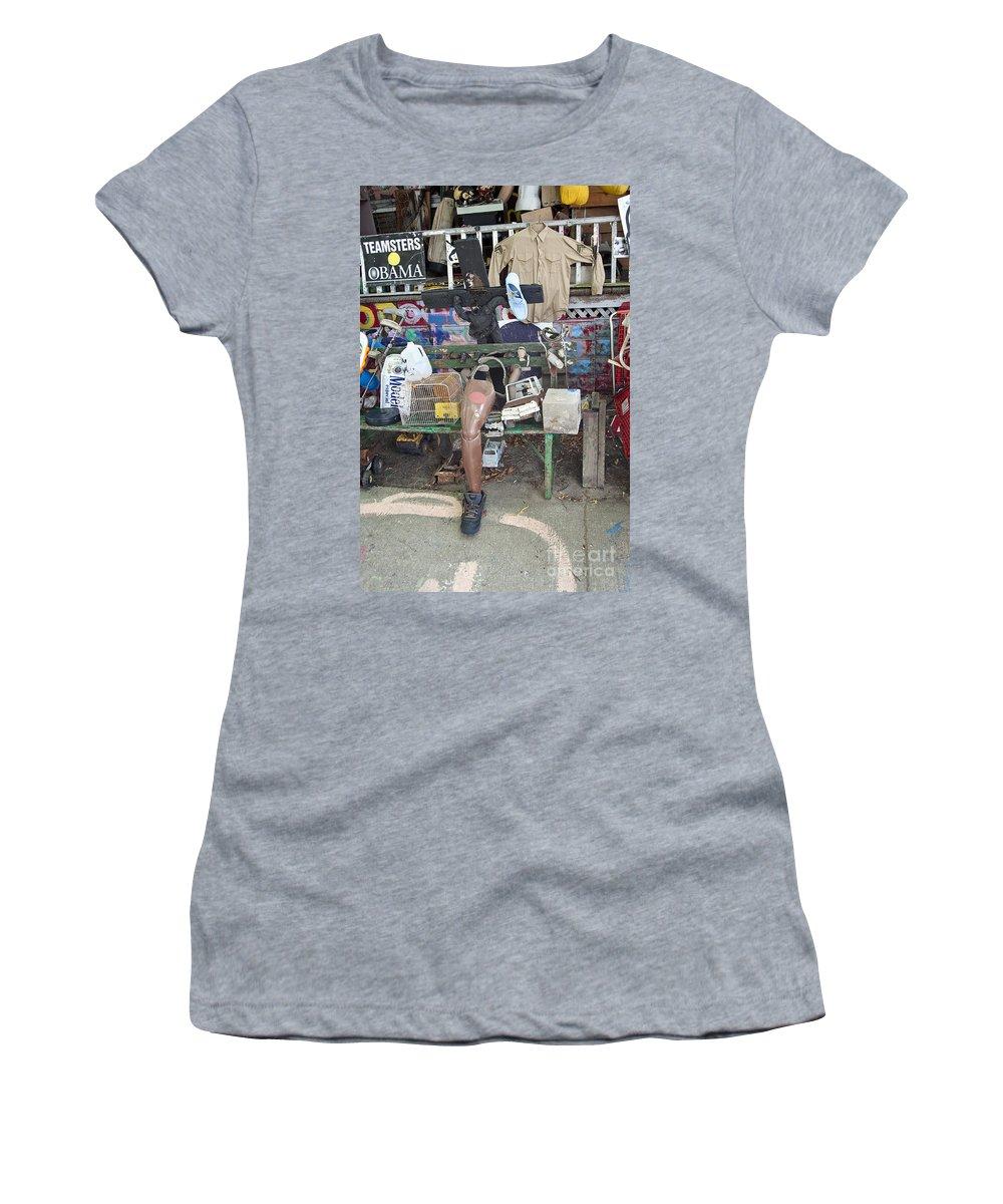 Heidelberg Project Women's T-Shirt featuring the photograph Oj House Detail by Steven Dunn