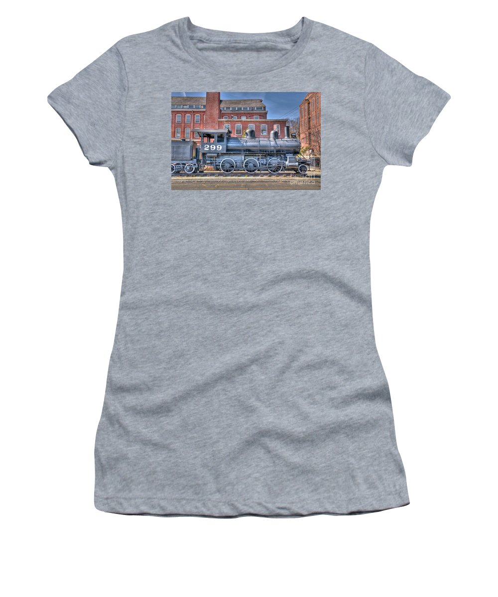 Train Women's T-Shirt featuring the photograph Old 299 by Anthony Sacco