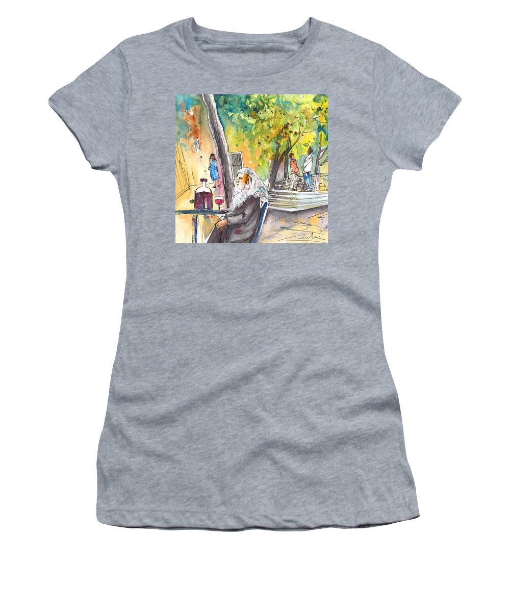 Italy Women's T-Shirt featuring the painting Old And Lonely In Italy 05 by Miki De Goodaboom
