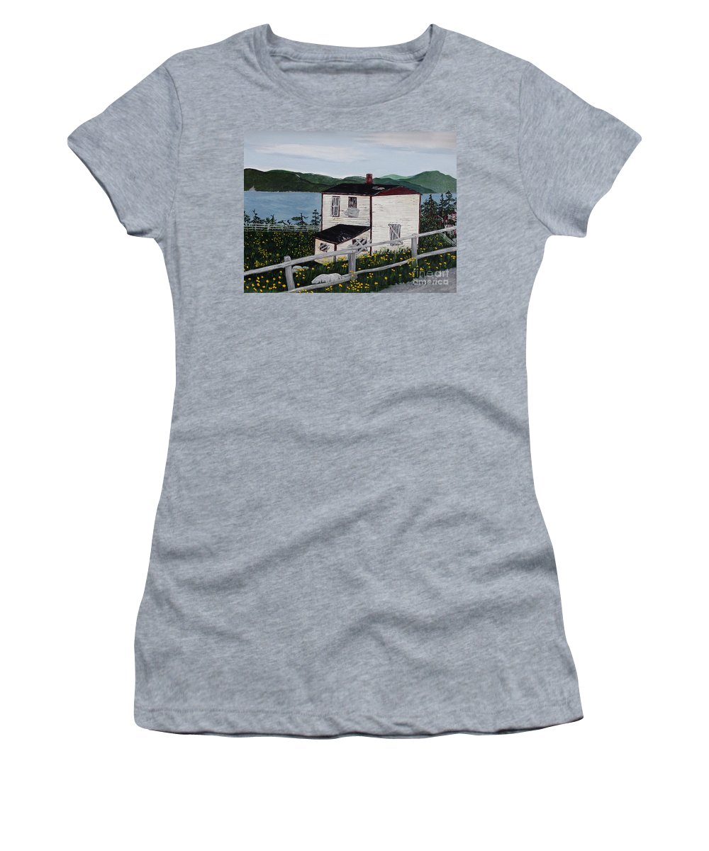 Old House If Walls Could Talk Women's T-Shirt featuring the painting Old House - If Walls Could Talk by Barbara Griffin